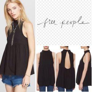 Free People mock neck flowy top